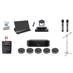 Hybrid Meeting Equipment All in One Paket