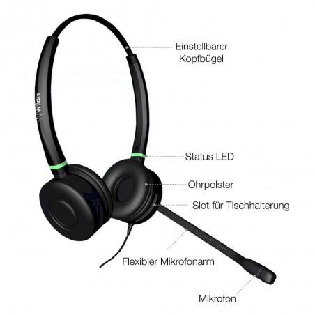 DuoLED Headset Wildix