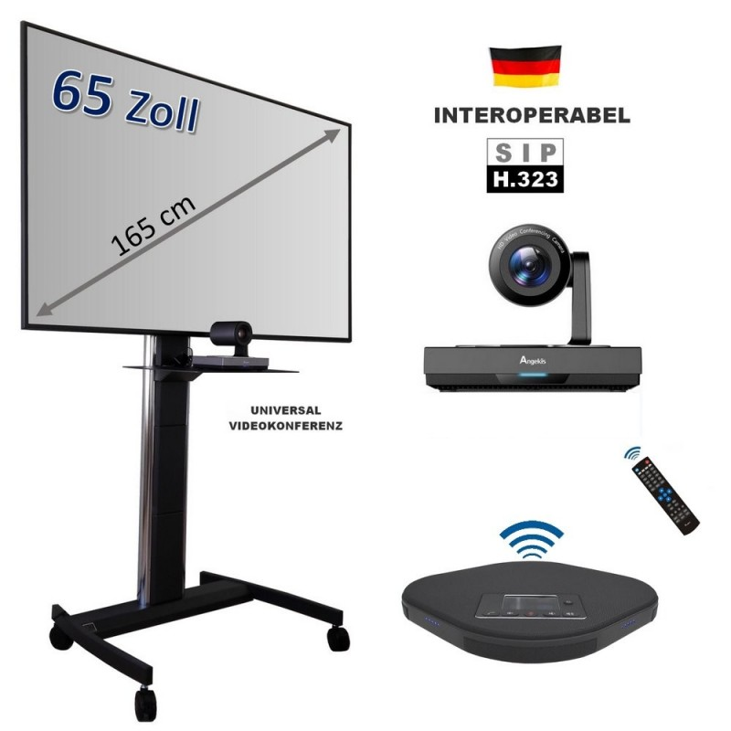 Universal Videokonferenz USB Kamera mit Funk-Mikrofon und Software
